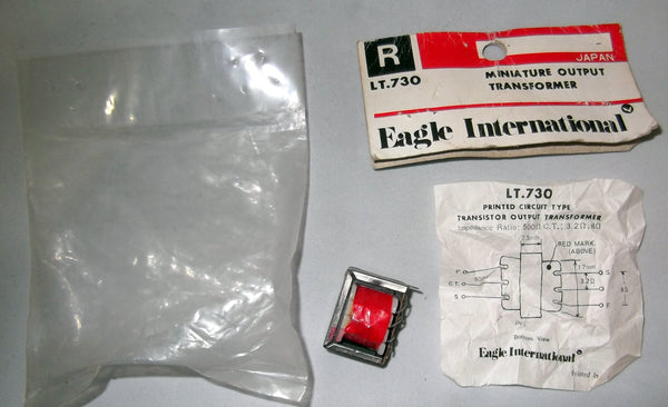 TRANSISTOR RADIO, OUTPUT TRANSFORMER, LT-730, LT730  RATIO 500 OHM CT : 8, 3.2 OHM