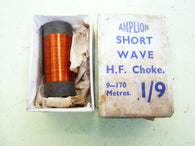 AMPLION SHORT WAVE HF CHOKE, 9 - 170M  1930S BOXED NEW - MULLARD MAGIC