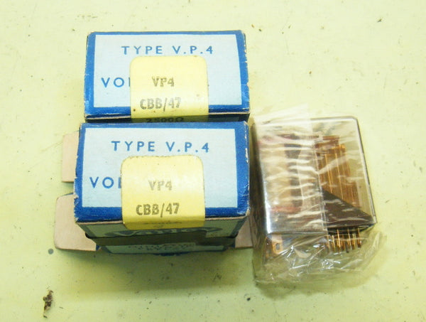 VARLEY, VP RELAY, VP4/CBB/47/2500, 4 POLE, C/O BREAK BREAK, 47V, 2500 OHM COIL - MULLARD MAGIC