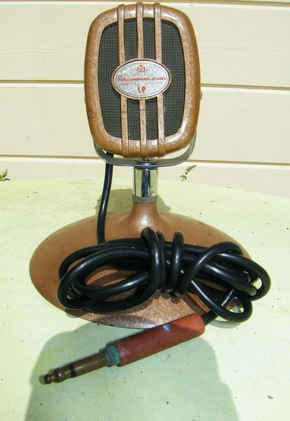 LUSTRAPHONE C51 DYNAMIC MICROPHONE, MARKED PYE TELECOMMUNICATIONS - MULLARD MAGIC - 1