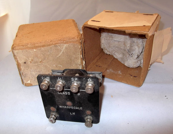 WHARFEDALE, VINTAGE TRANSFORMER, CLASS B, MODEL LR. BOXED AS NEW