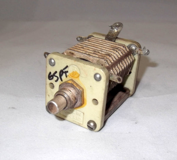 VARIABLE CAPACITOR, TUNING GANG, CERAMIC, JOHNSON BROTHERS, 65pF