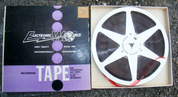 FERROGRAPH, METAL 7 INCH REEL, WITH R2R TAPE, BOXED   - MULLARD MAGIC - 1