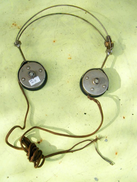 VINTAGE CRYSTAL SET HEADPHONES, DR NESPER GERMAN 2000 OHM WORKING