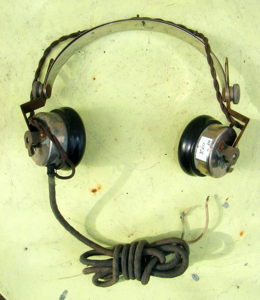 ADMIRALTY, VINTAGE RN, NAVY, HEADPHONES, 50 OHM, WORKING