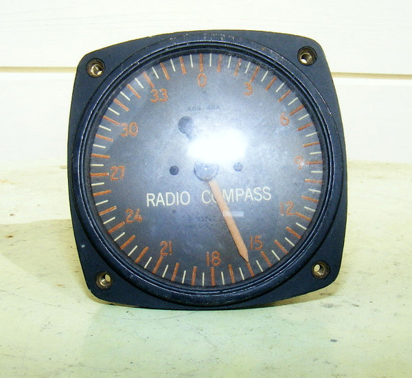 Bendix Aviation Model I-82-A, PL-118 Radio Compass Indicator. Used during WWII by the US Army Signal Corps in the B-17 and B-24 planes. Physically in good condition. Untested.