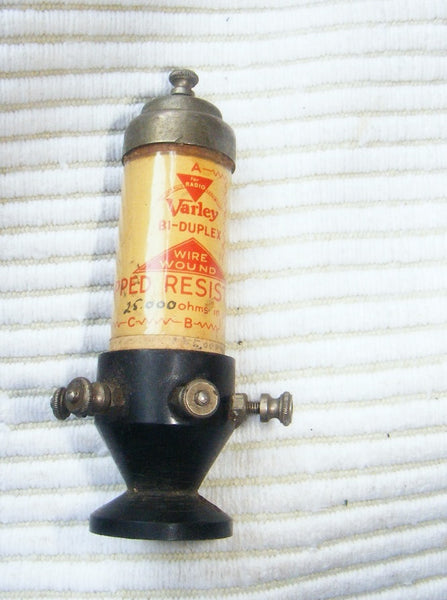 VARLEY WIRE WOUND ANODE RESISTANCE HOLDER 1928