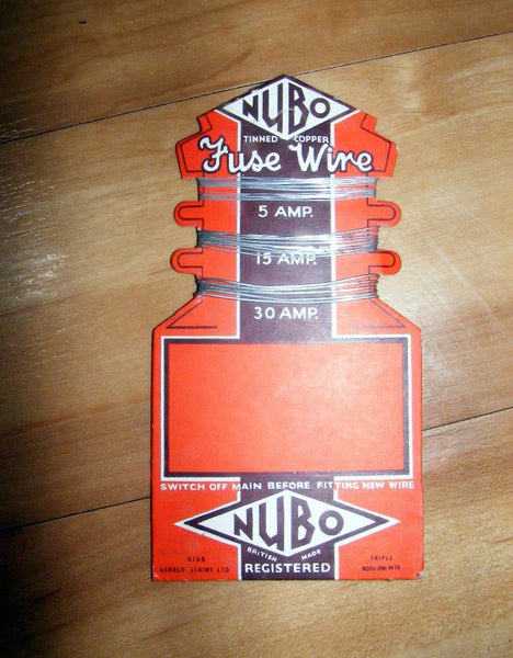 1940s FUSE WIRE CARDS BY NUBO  - GERALD STAINS LTD