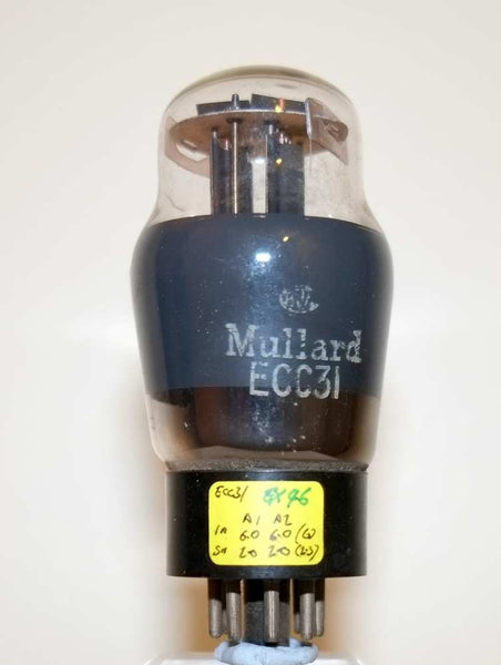 MULLARD WHITE PRINT ECC31 WARTIME MANUFACTURE - MULLARD MAGIC