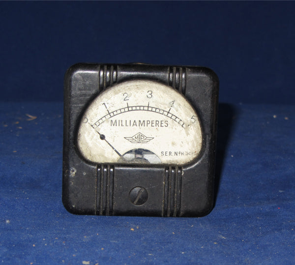 0 - 5mA, MOVING COIL METER, BY PULLIN, MIP