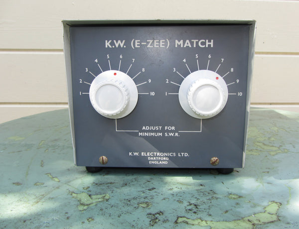 KW ELECTRONICS, KW,  E-ZEE MATCH,  BALANCED ATU ,  ANTENNA TUNING UNIT