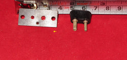 BELLING, 2PIN, PAXOLIN, PLUGS,  SPEAKER OUTPUT, TRANSFORMER TAPPING POINTS  APPROX 33mm LENGTH,  APPROX 9mm PITCH