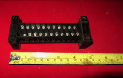 ADMIRALTY, 11 WAY, BAKELITE TERMINAL BLOCK, WITH EDGE MOUNTING CHEEKS, VERY HEAVY DUTY