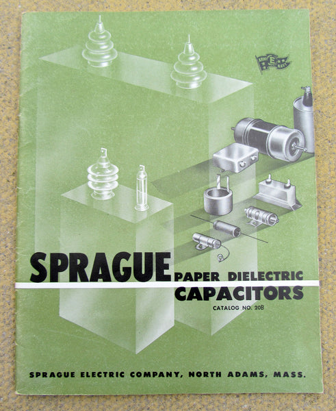 SPRAGUE, PAPER DIELECTRIC CAPACITOR, CATALOGUE 20D, FROM 1946,