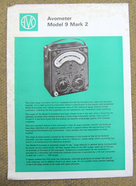 AVOMETER, MODEL 9 MARK 2, FULL COLOUR POSTER/DATA SHEET