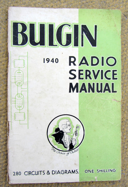 BULGIN, RADIO SERVICE MANUAL, 1940
