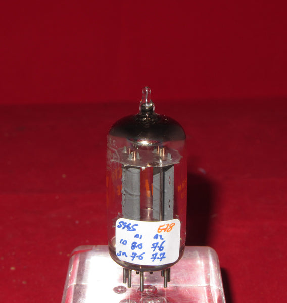 5965, RCA, Red Print, 17mm Anode, 52J Date Code