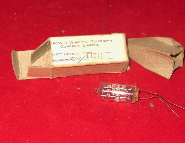 MARCONI, CRYSTAL , WIRE CONNECTION, GLASS ENVELOPE, 14271 Hz, BOXED, NEW