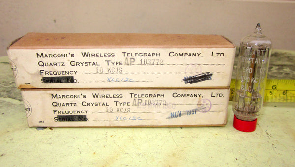 MARCONI WIRELESS TELEGRAPH GLASS B7G CRYSTALS VARIOUS