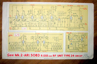 GEE Mk2 ARI5083 R1355 & RF UNIT TYPE 24 CIRCUIT DIAGRAM 4361D/MIN AIR MINISTRY