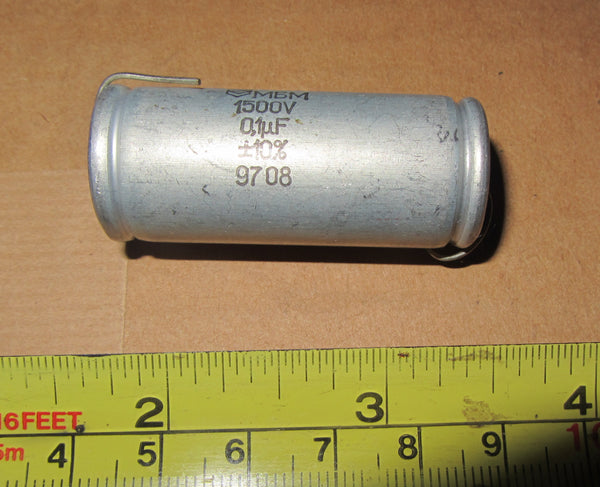 RUSSIAN, MBM, PAPER IN OIL, PIO, AXIAL CAPACITORS 0.1uF  @ 1500V