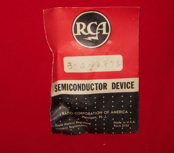 RCA, 2N2896, Bipolar Junction Transistor, NPN ,Type TO-18, Pack of 3, NOS