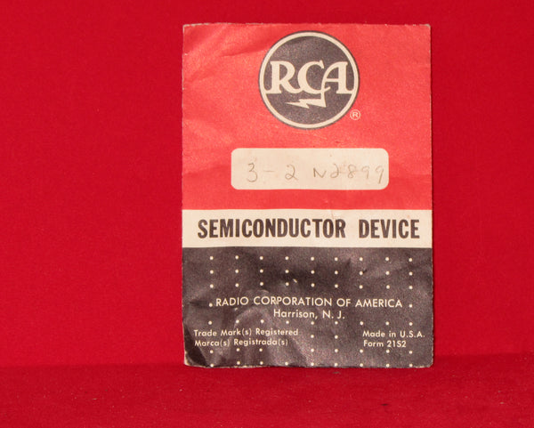 RCA, 2N2899, Transistor Silicon, NPN,  Pack of 3, NOS