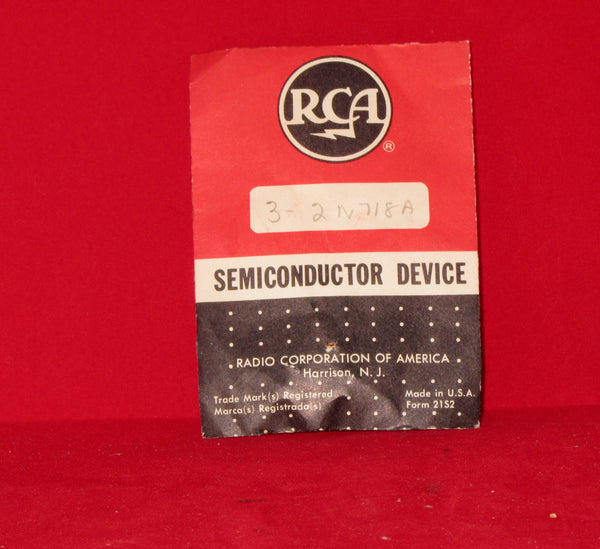 RCA, 2N718A, Transistor Silicon, NPN, Case TO18, Pack of 3, NOS
