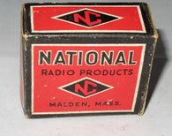 NATIONAL RADIO MALDEN BOXED VALVE BASES FROM 1937 VARIOUS