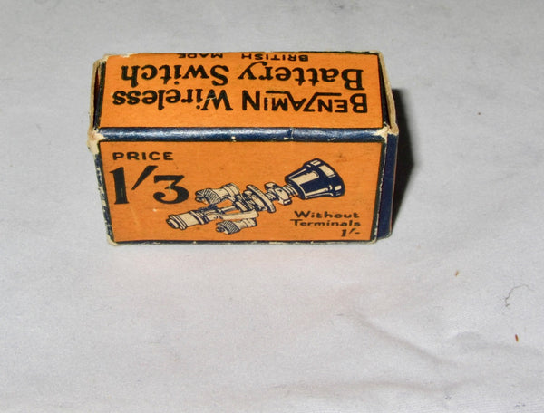BENZAMIN, BENJAMIN, 8663, DOUBLE POLE PULL, BATTERY SWITCH, NEW BOXED 1930