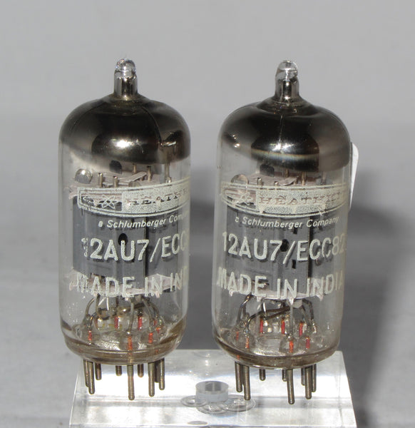 MULLARD HEATHKIT BADGED 12AU7 ECC82 MATCHED PAIR BHARAT BANGALORE Gf8 CODED WITH SAME FACTORY CODE FROM 1973