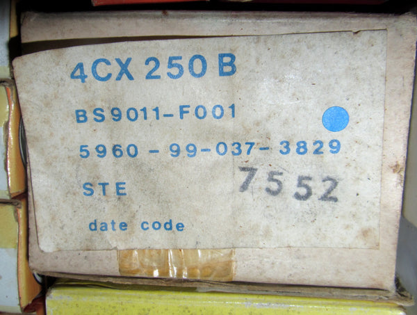 4CX250B, STC, 7203, NEW,BOXED, EX MILITARY, STOCK.