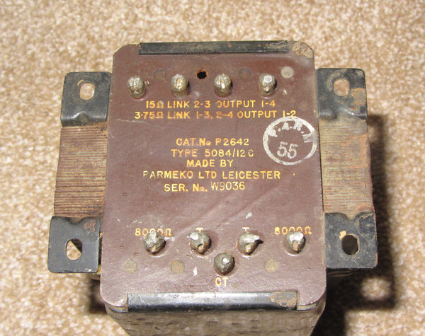 PARMEKO, P2642, 8K OUTPUT TRANSFORMER, FOR MULLARD 5-10 AMPLIFIER, EL84 IN PUSH PULL