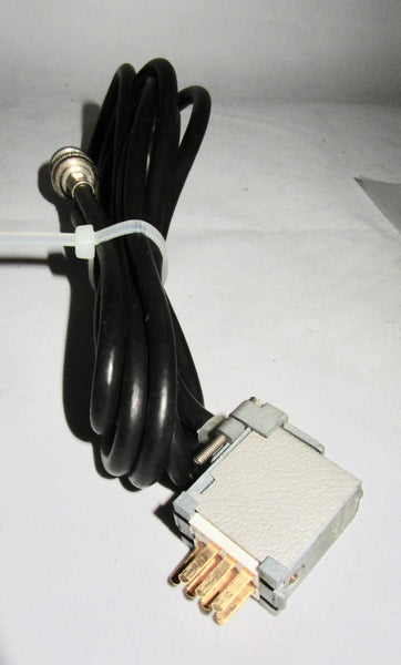 PLESSEY PAINTON JONES MULTICON 159 SERIES 7 PIN PLUG & BNC SOCKET ON SCREENE LEAD FOR QUAD 50D 50E CABLE MOUNT