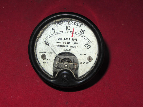 "Ammeter DC2"", 200A, Military, Moving Coil Meter, c/w Shunt, ZA0149, Dated 1943"