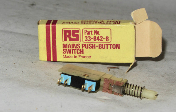 mains push button switch RS, 33-842-8