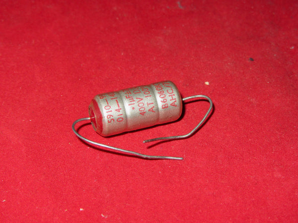 0.1 uF 400V, MILITARY CAPACITOR, METALLISED,PAPER DIELECTRIC, EPOXY END SEAL, HUNTS/THALES