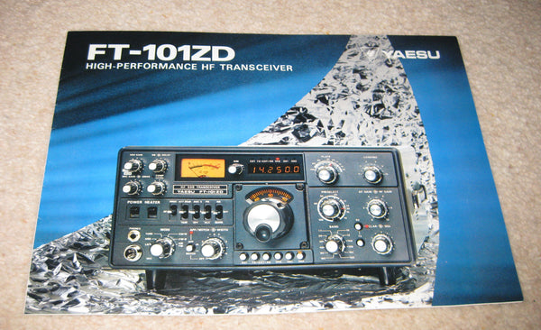 YAESU FT-101ZD BROCHURE, EARLY 1970S MINT  - MULLARD MAGIC - 1