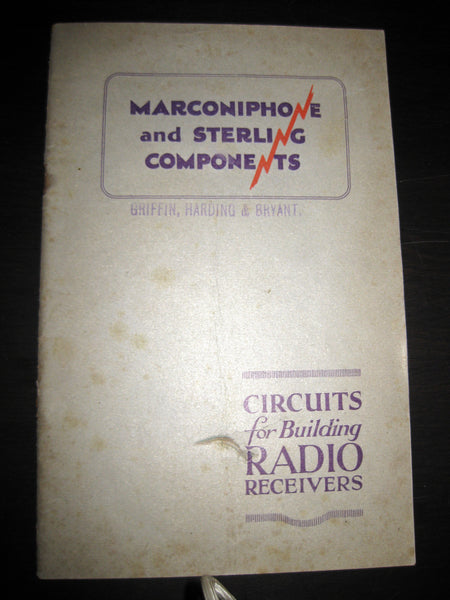 MARCONIPHONE & STERLING COMPONENTS EARLY RADIO BOOKLET DATED 1926 - MULLARD MAGIC - 1