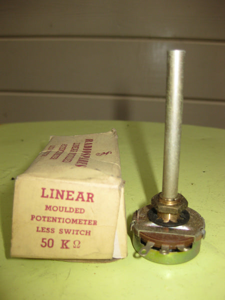 RADIOSPARES EXACT REPLACEMENT SWITCHLESS  VOLUME CONTROL 50K LIN NEW BOXED 1950S - MULLARD MAGIC