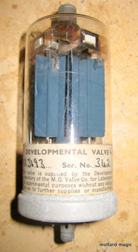 MARCONI OSRAM EXPERIMENTAL DEVELOPMENT LAB SAMPLE CV2318 VX3193 A2272 HW RECTIFIER - MULLARD MAGIC - 1