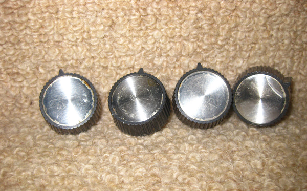 SET OF FOUR KNOBS, GREY WITH ALUMINIUM CENTRES, THOUGHT TO BE, TRUVOX