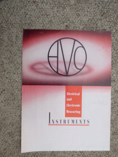 AVO, ELECTRICAL & ELECTRONIC MEASURING INSTRUMENTS, BROCHURE, 1963