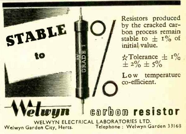 Assorted values Welwyn & Painton Panclimatic Resistor, C22 Series as used in AVO meter & AVO VCM - MULLARD MAGIC - 1