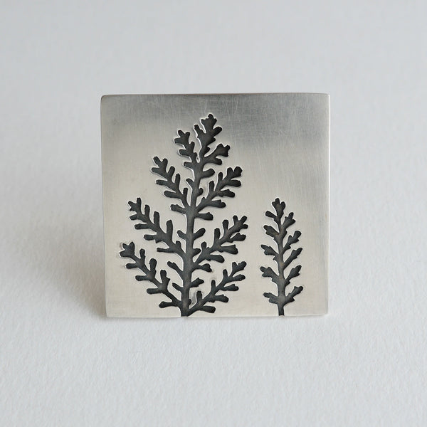 Dusty miller brooch