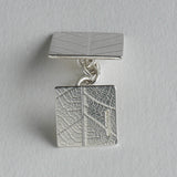 Square leaf chain cufflink