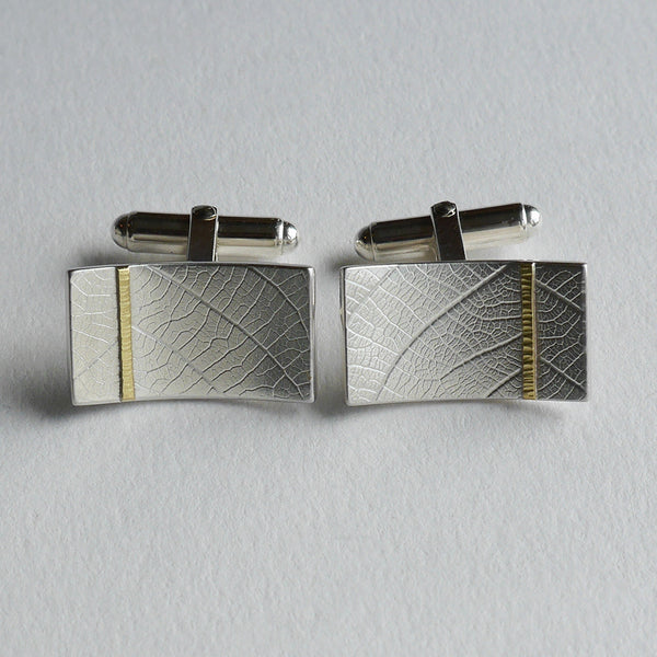 Rectangle leaf cufflink
