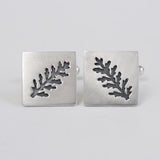 Square dusty miller cufflink