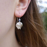 Grey pearl beech drop earring