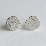 Dusty miller teardrop studs